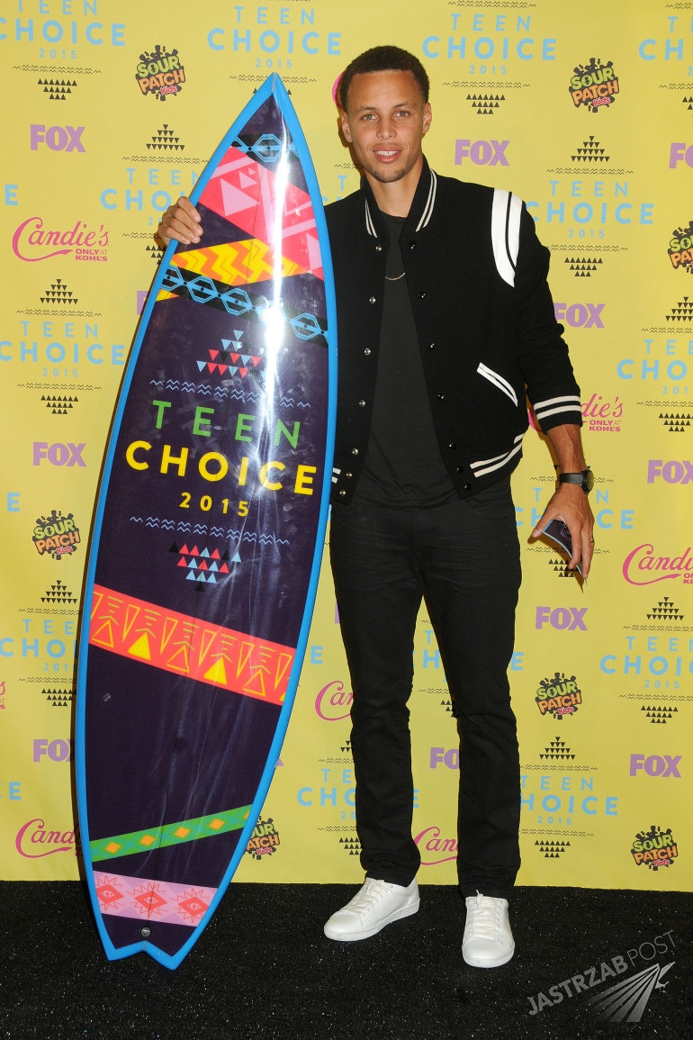 Gwiazdy na rozdaniu nagród Teen Choice Awards 2015 [GALERIA] - Stephen Curry – Teen Choice Awards 2015