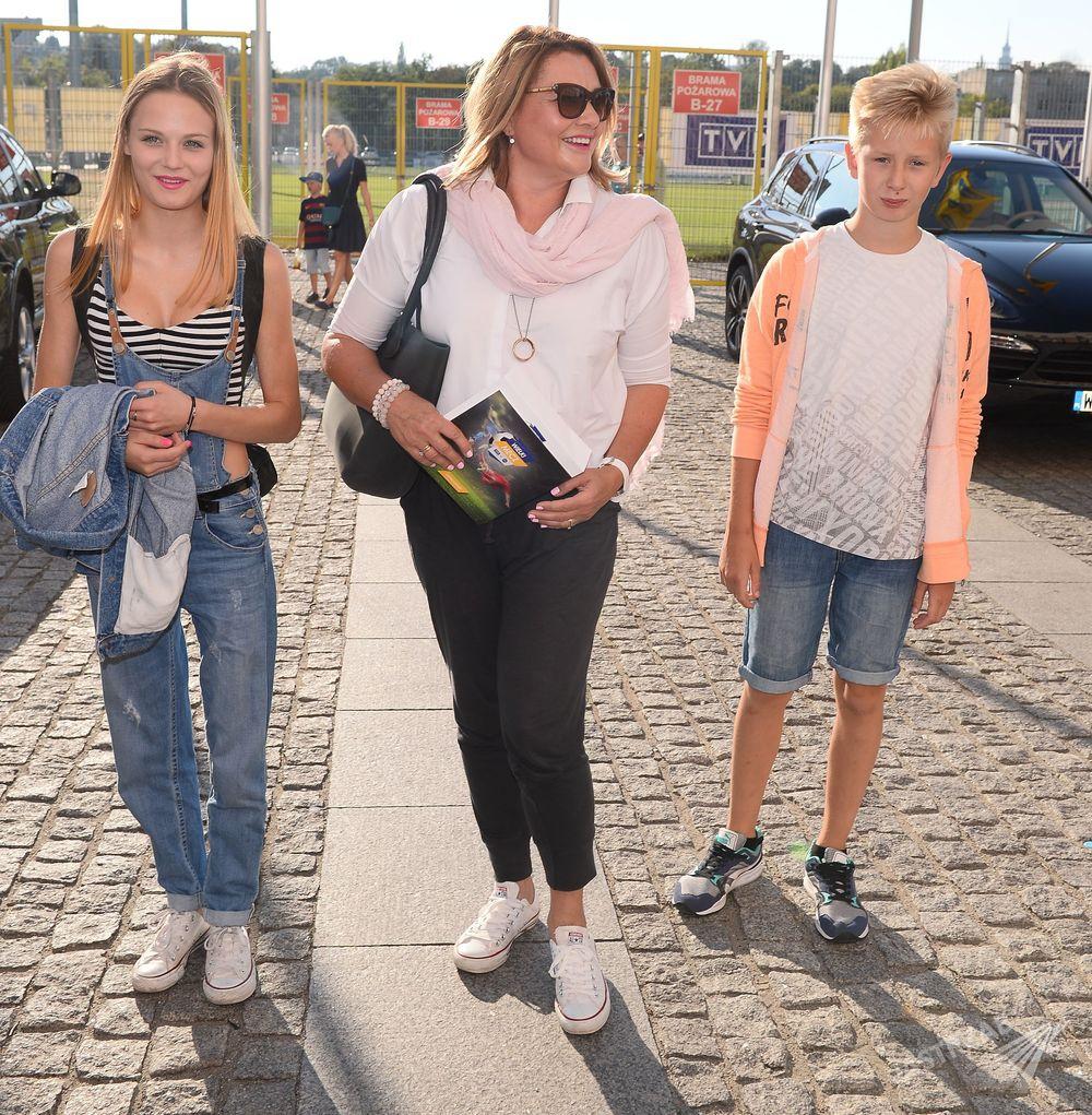 Małgorzata Ostrowska-Królikowska z Kasią Sawczuk i synem
