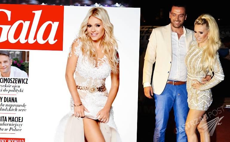 Doda w Gali w sukni ślubnej - cały wywiad 10 sierpnia 2015 - zaręczyny, pierścionek, Emil Haidar