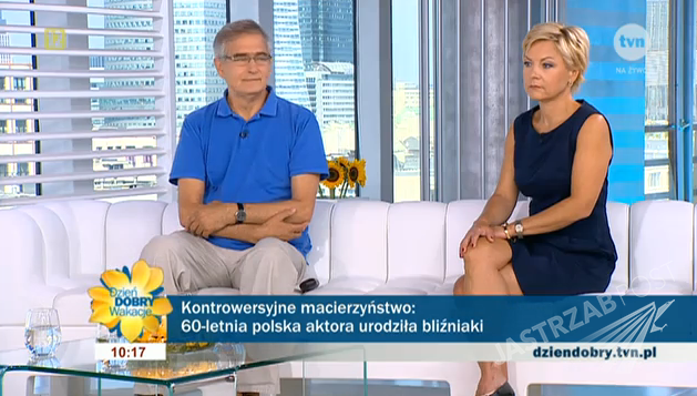 Olgierd Łukaszewicz i dr Anetta Karwacka w DDTVN