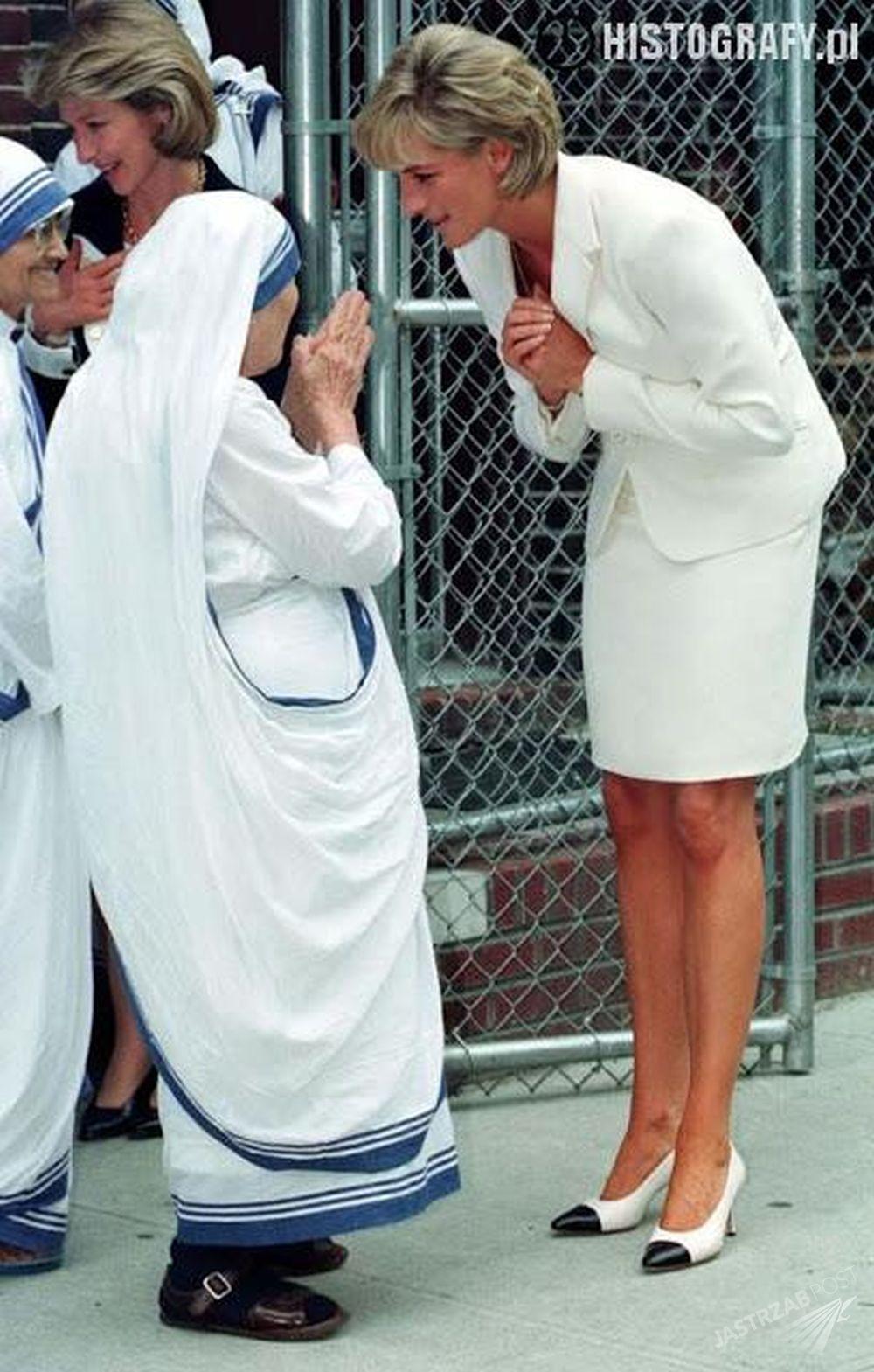 Spotkanie Księżnej Diany z Matką Teresą w 1997 roku