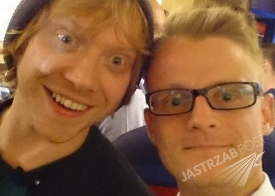 Rupert Grint czyli Ron z 'Harry'ego Pottera' i Iwan Rheon z 'Gry o tron' odwiedzili Pijalnię Wódki i Piwa w Krakowie