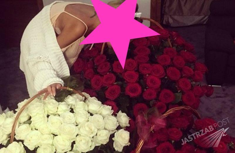 Natalia Siwiec dostała kosze kwiatów