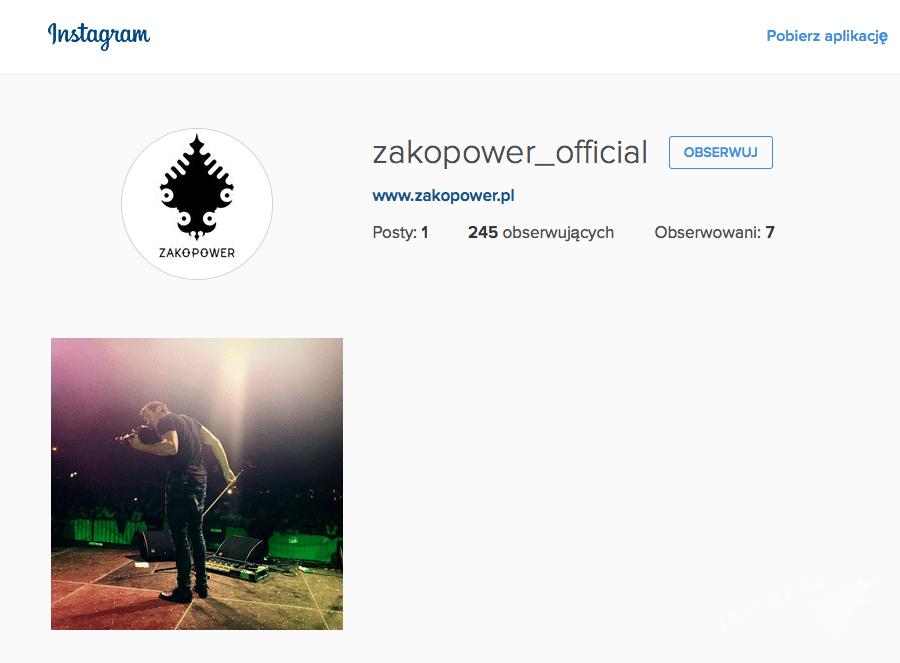 Instagram Zakopower