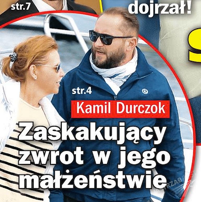 Kamil Durczok i Marianna Dufek na plaży w Sopocie. Zdjęcia paparazzi w Życiu na gorąco