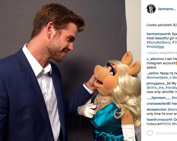 Pierwsze zdjęcie Liama Hemswortha na Instagramie