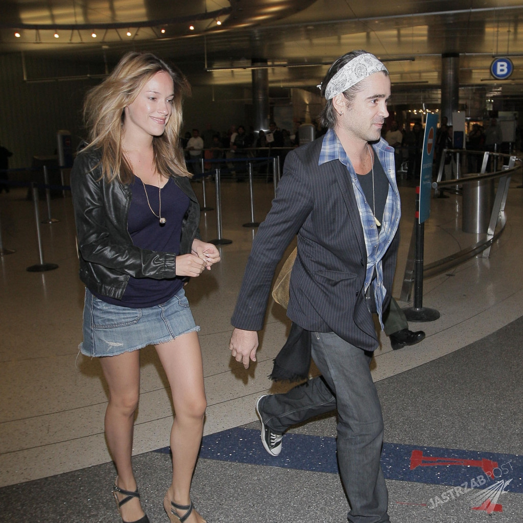 COLIN FARRELL AND GIRLFRIEND ARRIVE AT LAX AIRPORT