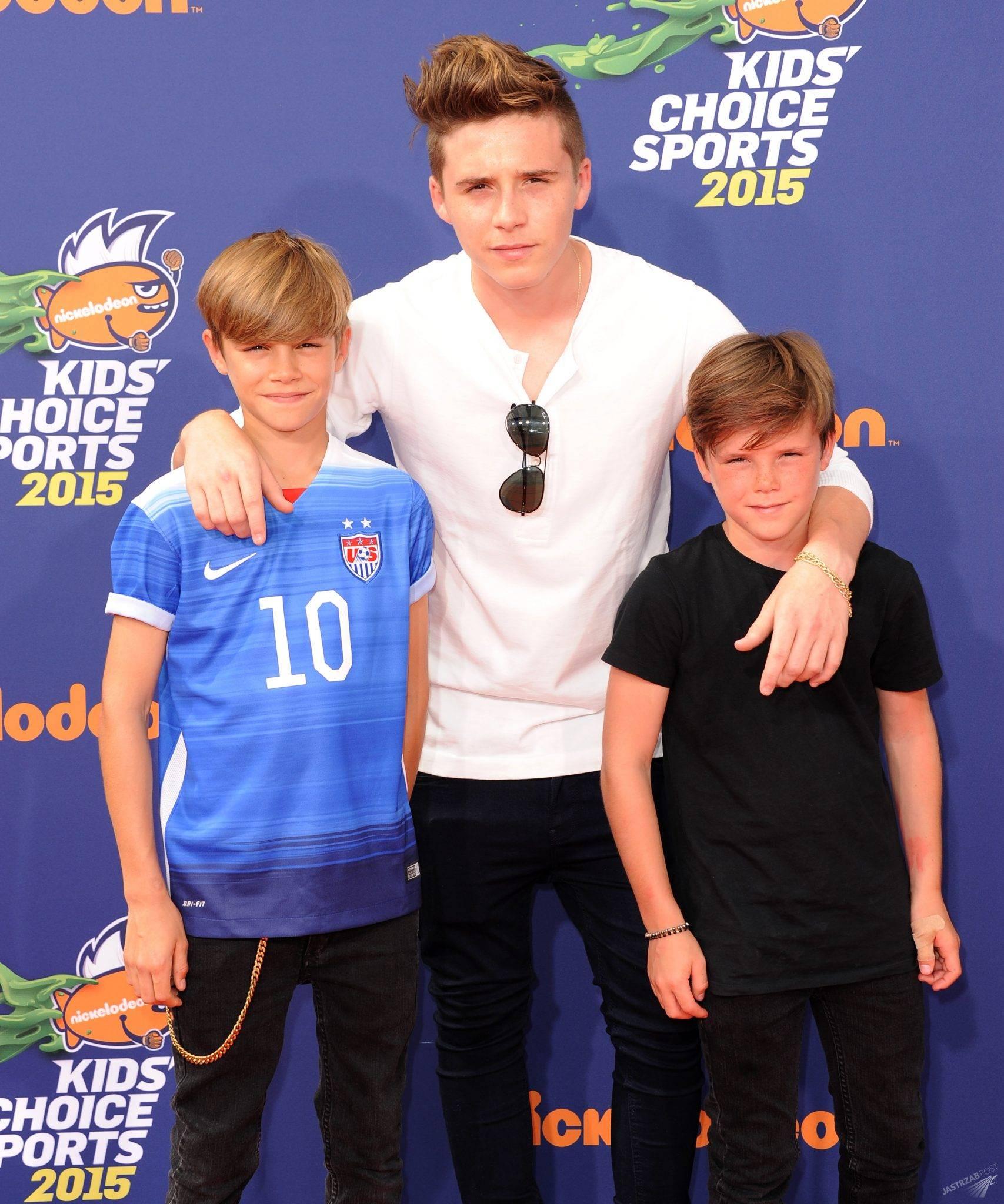 Wszyscy synowie Davida i Victorii Beckhamów - Romeo, Brooklyn i Cruz