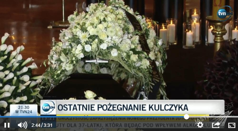 Trumna Jana Kulczyka Fot. screen z TVN24