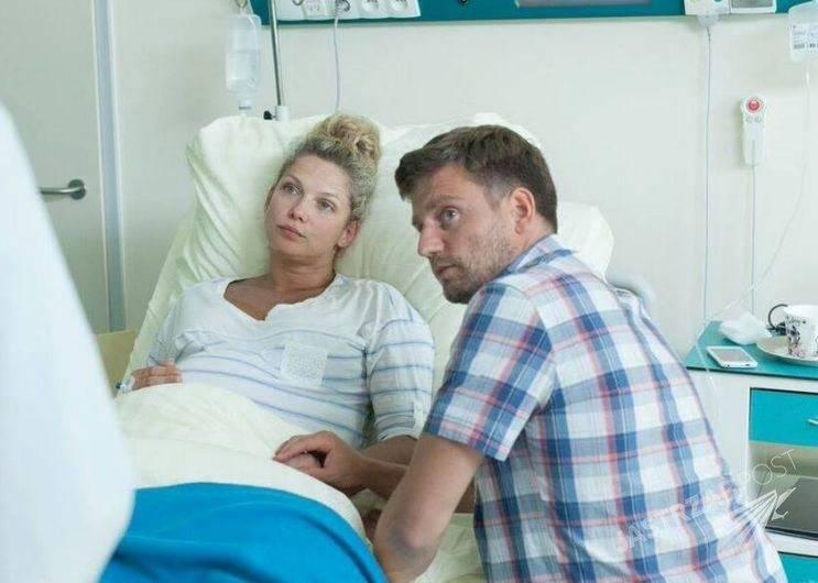 Patrycja (Joanna Liszowska), Michał (Marcin Rogacewicz) w 64 odcinku ''Przyjaciółek''