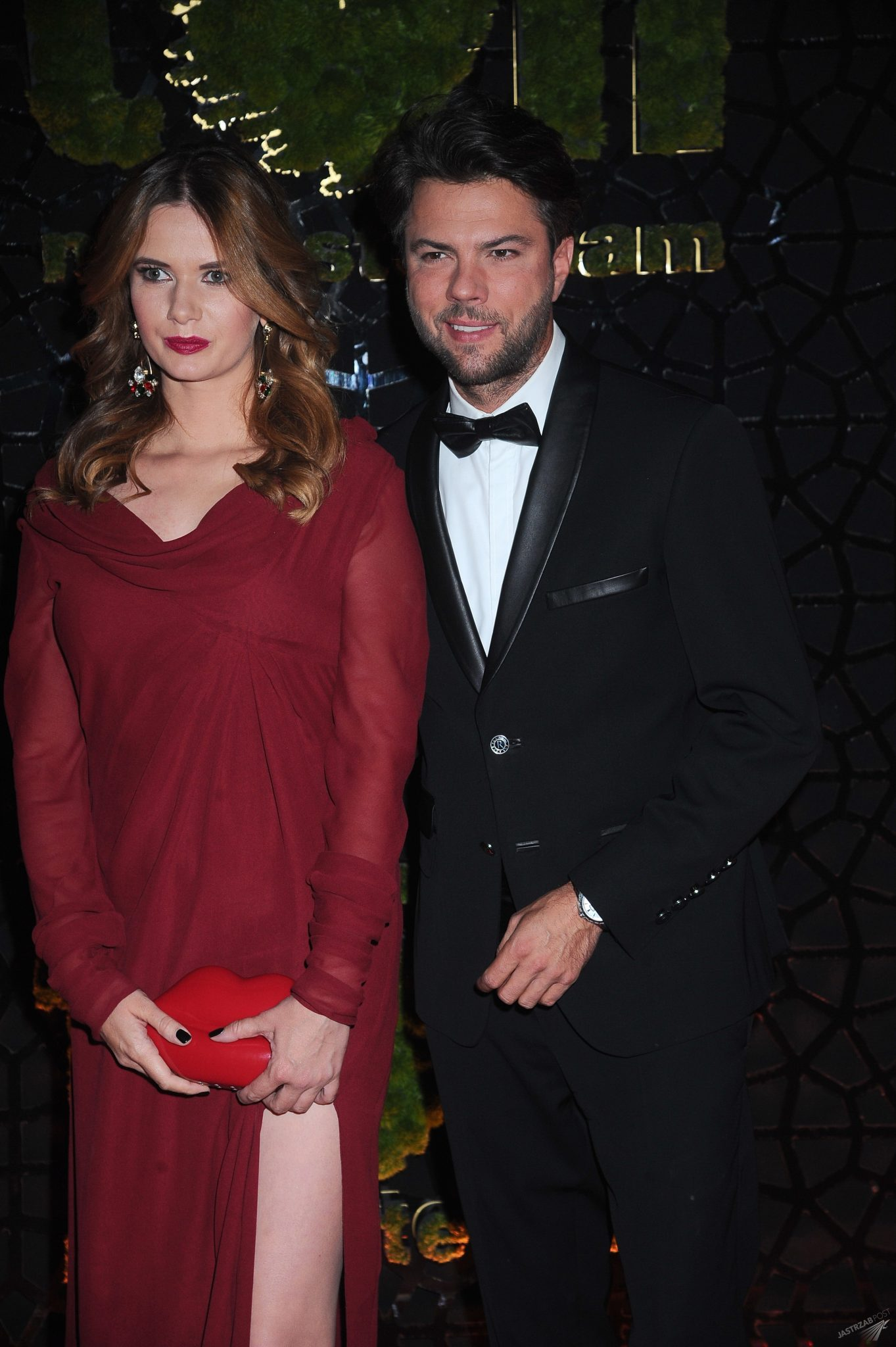 Karolina Malinowska i Olivier Janiak na balu TVN 2015