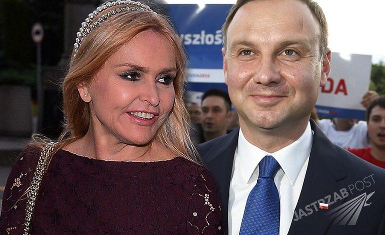 Andrzej Duda i Monika Olejnik