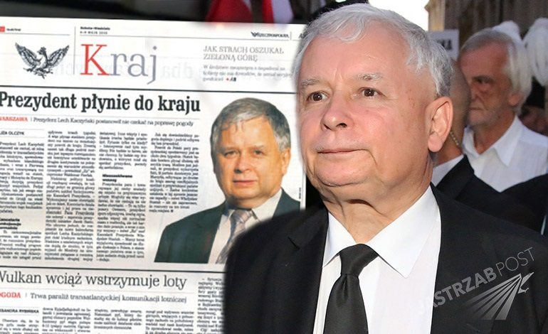 Fikcyjne wydanie Rzeczpospolitej dla Jarosława Kaczyńskiego