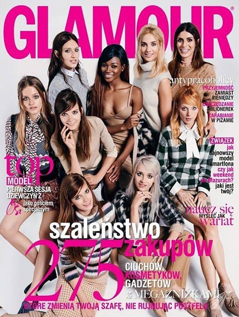 Glamour okładka z uczestniczkami Top Model