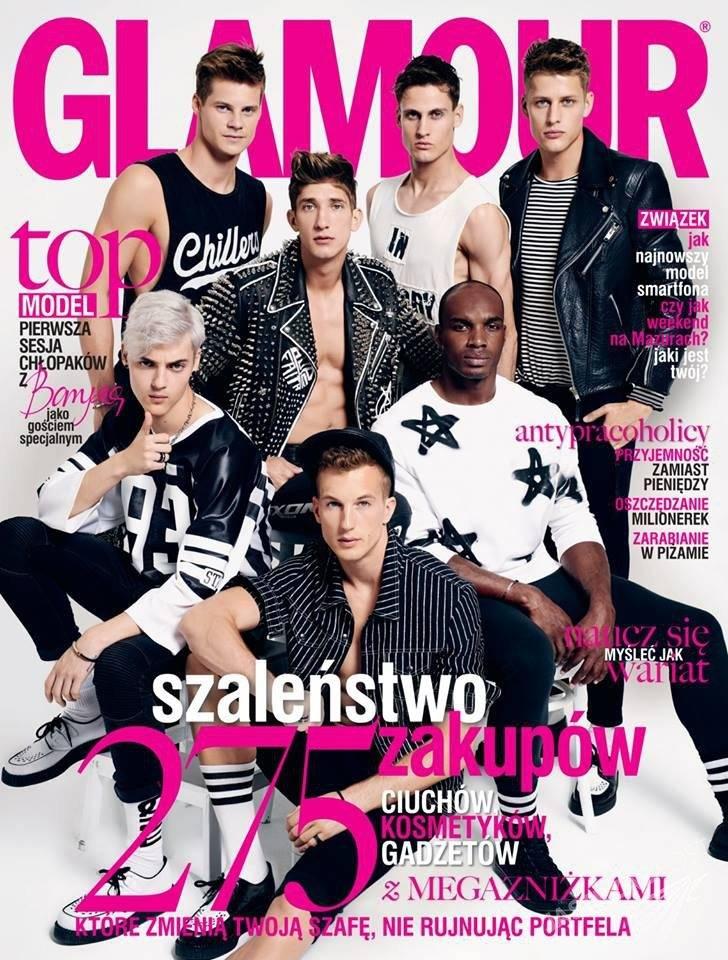 Glamour okładka z uczestnikami Top Model 5