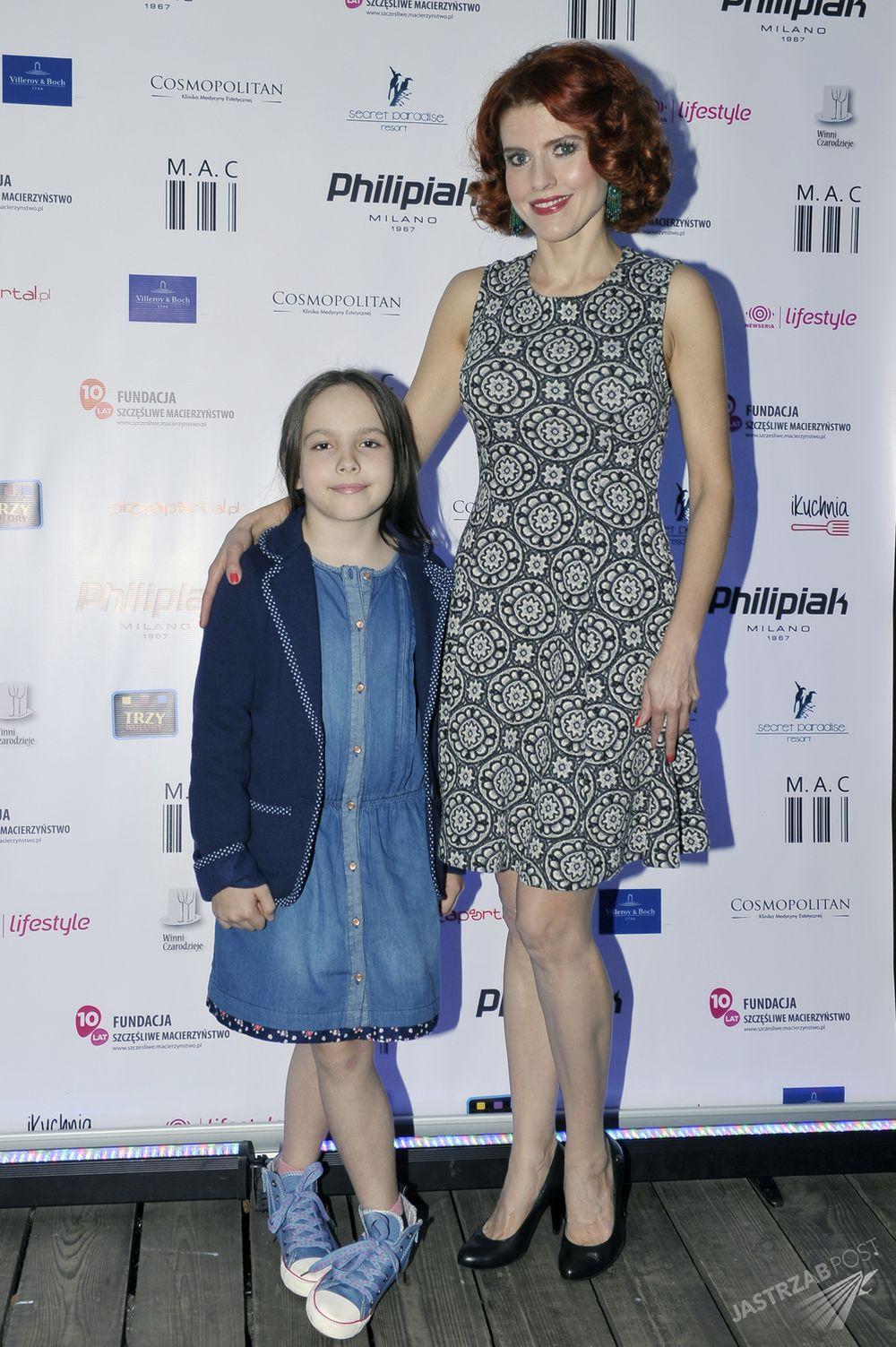 Agnieszka Wielgosz z córką podczas Charytatywnych Kulinarnych Zawodów Rodzinnych Gwiazd
