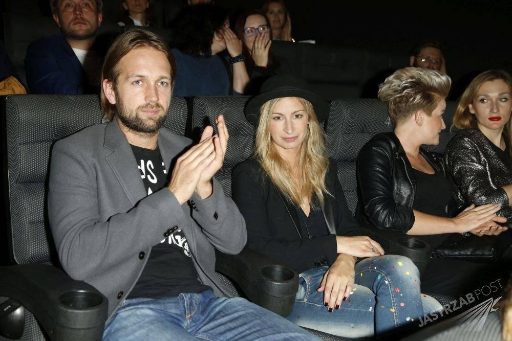 Magdalena Schejbal i Sławomir Zięba Drzymalski na premierze
