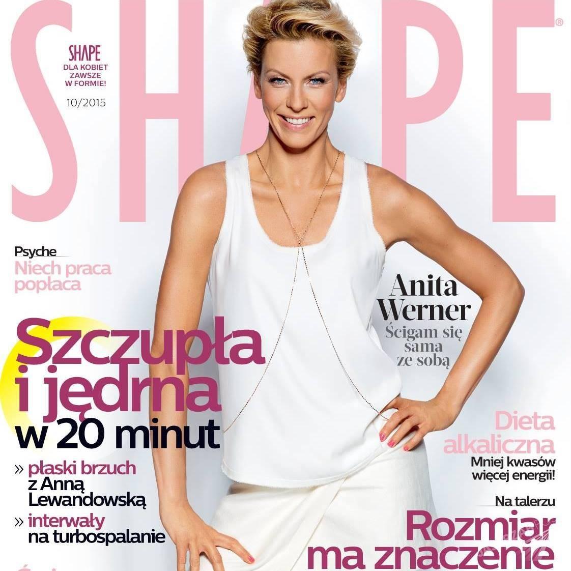 Anita Werner na okładce Shape październik 2015
