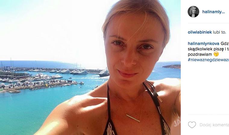 Halina Mlynkova bez makijażu
