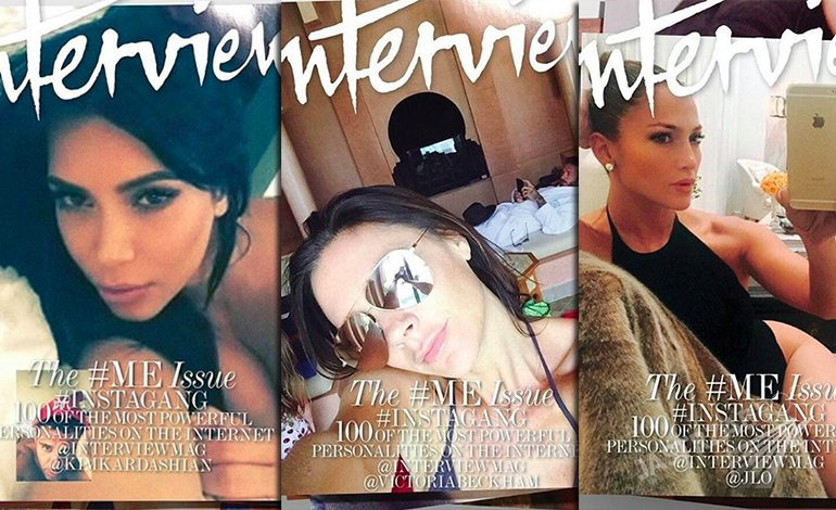 Osiem okładek Interview z selfie gwiazd - wrzesień 2015