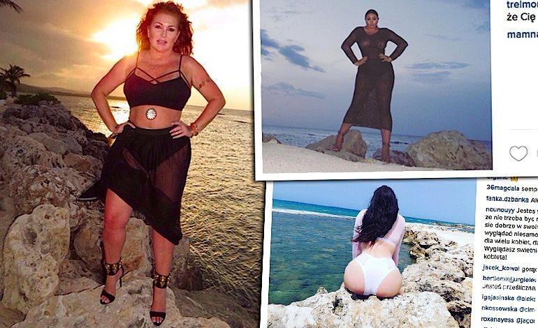 Marta Grycan i Wiktoria Grycan na wakacjach w szpilkach na plaży Instagram