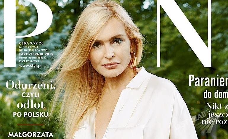 Monika Olejnik w Pani październik 2015 - okładka, wywiad, sesja