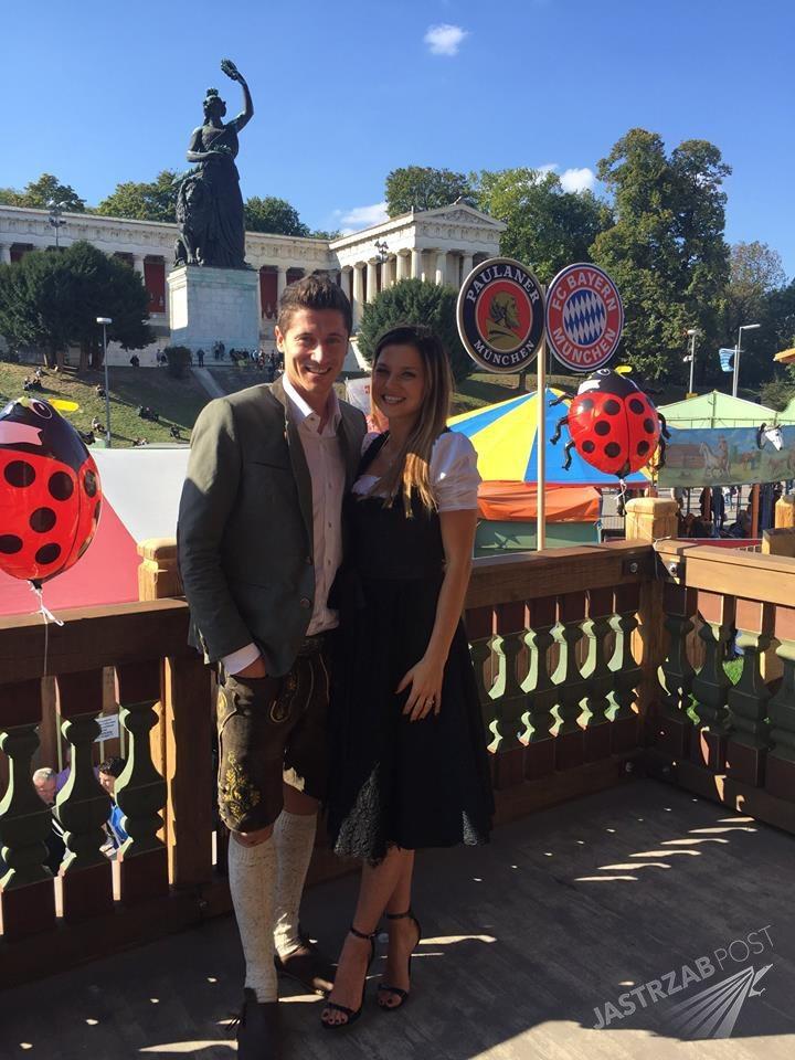 Robert i Anna Lewandowscy na Oktoberfest 2015