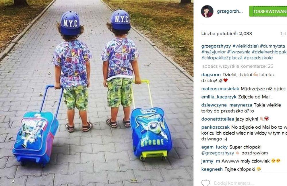 Grzegorz Hyży pokazał zdjęcie synów