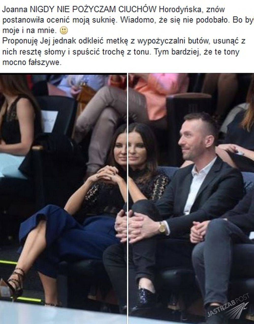 Joanna Horodyńska w wypożyczonych butach