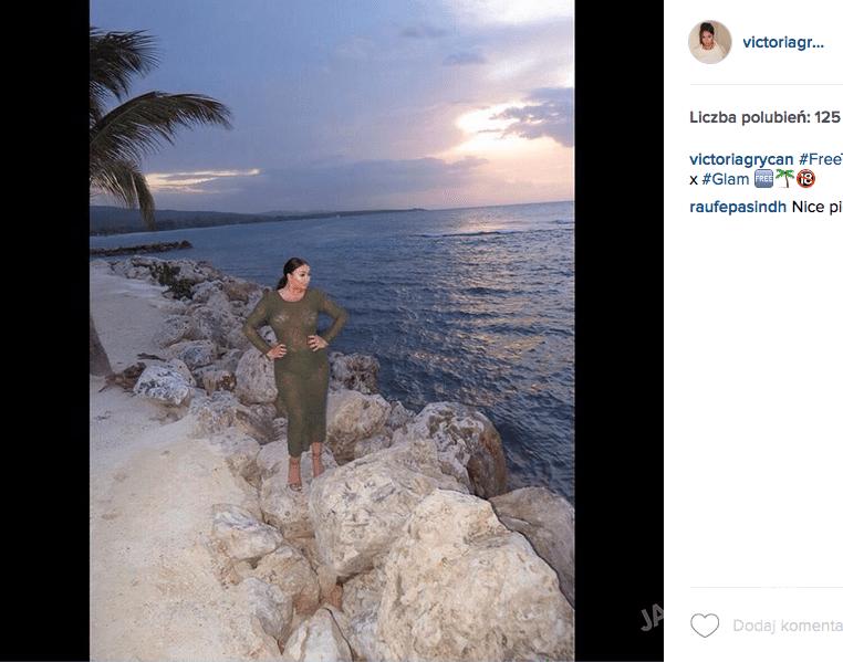 Wiktoria Grycan pozuje jak Kim Kardashian