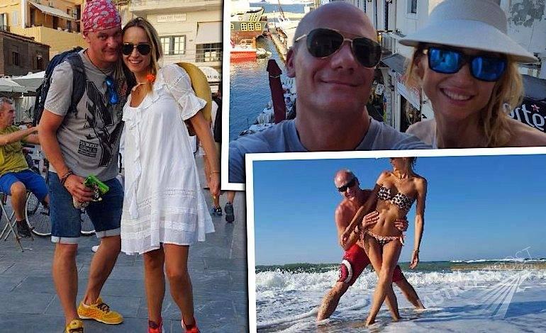 Piotr Zelt i Katarzyna Krawczyk na wakacjach w Grecji zdjęcia