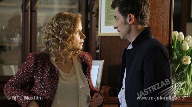 M jak miłość, Ewa (Dominika Kluźniak), Marek (Kacper Kuszewski),