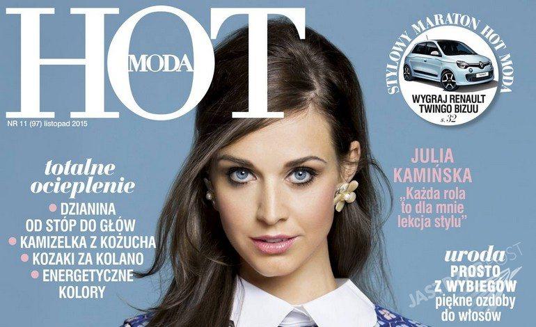 "Julia Kamińska na okładce ""HOT Moda"", listopad 2015"