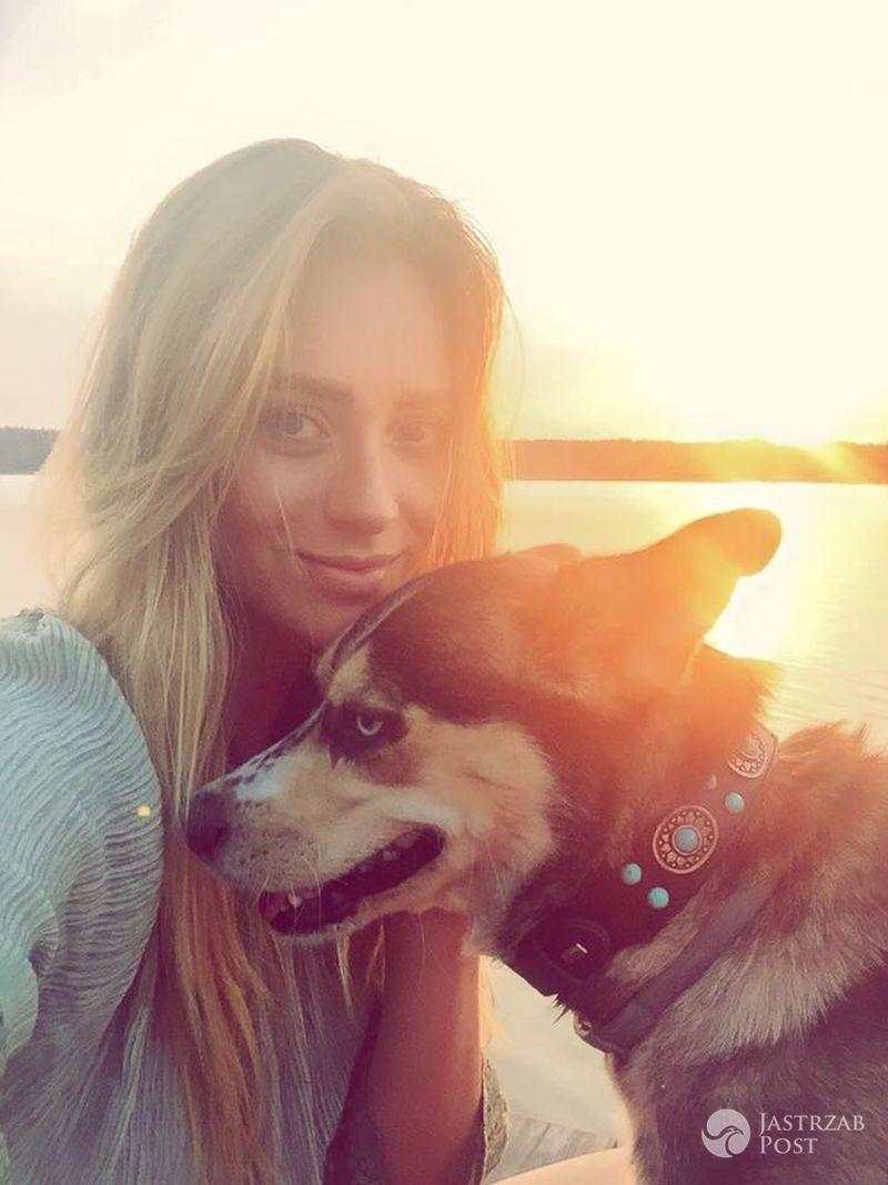 Marcelina Zawadzka z psem Abi