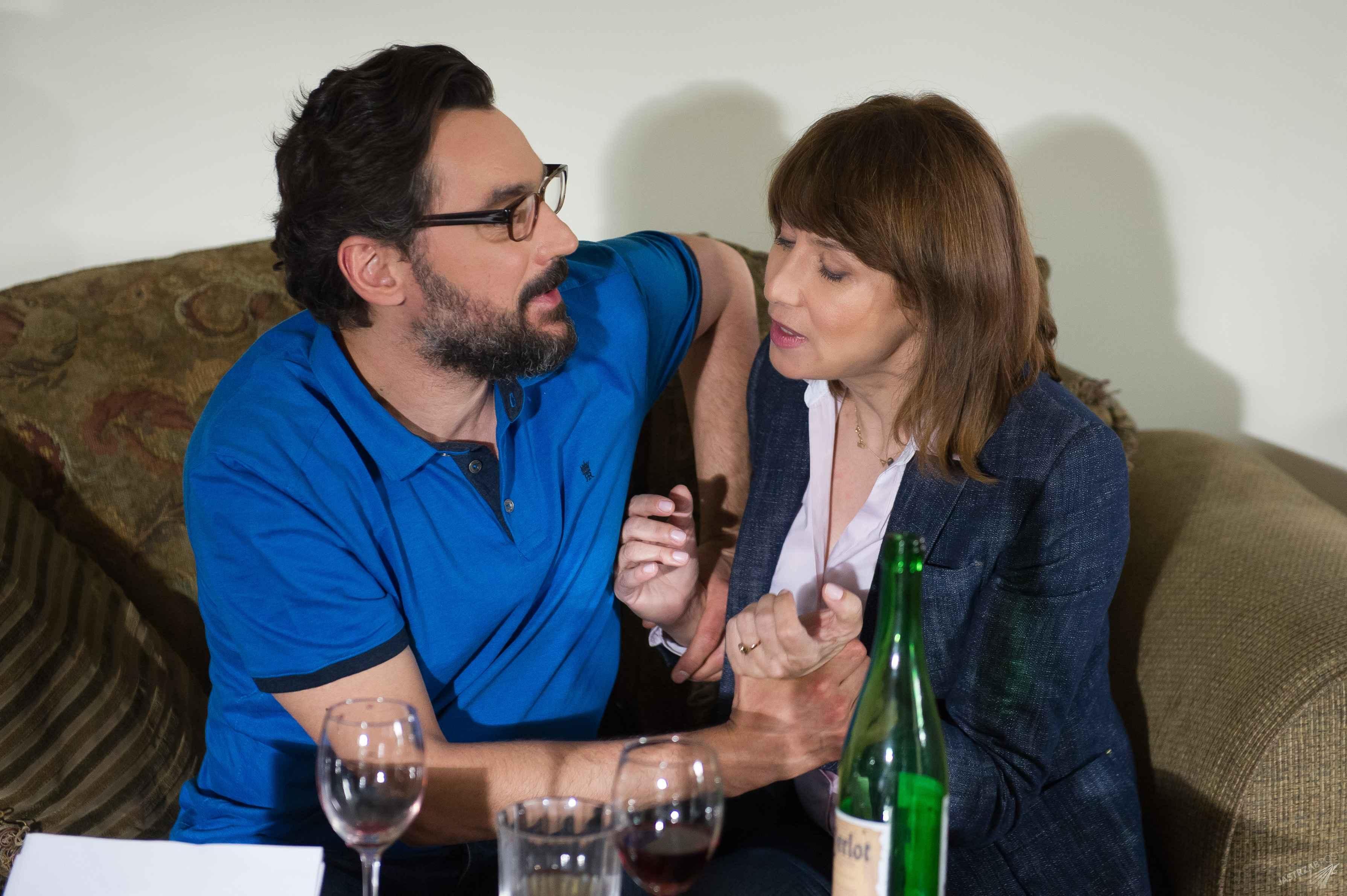 Na Wspólnej 2165, Basia (Grazyna Wolszczak), Adrian (Piotr Jankowski), fot: x-news