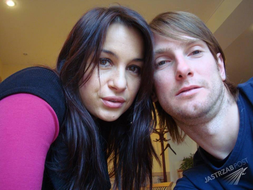Łukasz Kadziewicz z żoną Barbarą Gołąb-Kadziewicz