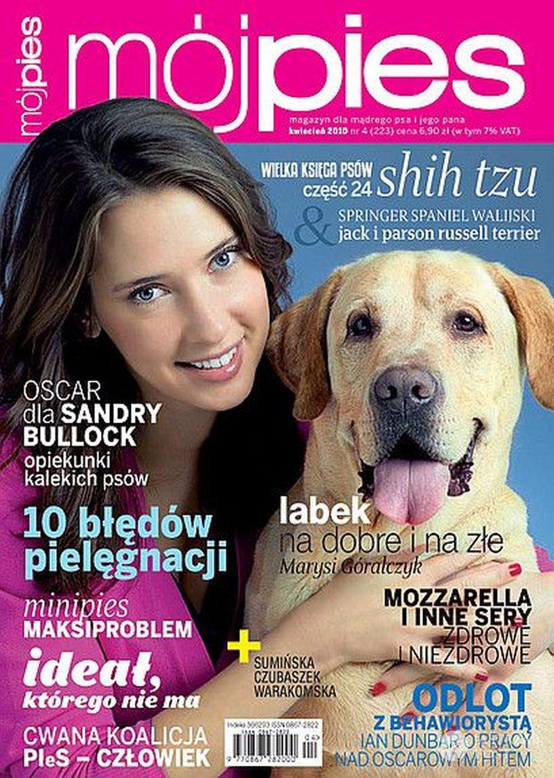 Marysia Góralczyk z psem labladorem