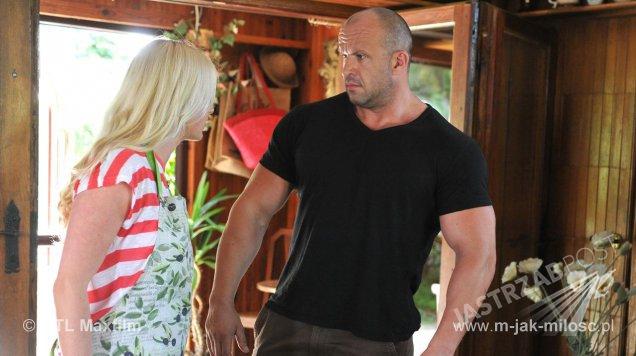 M jak miłość odcinek 1173, Marzenka (Olga Szomańska), Andrzejek (Tomasz Oświeciński)