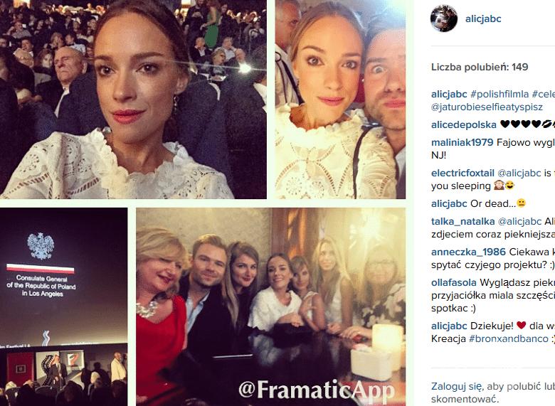 Alicja Bachleda-Curuś na Festiwalu Polskich Filmów w Los Angeles (fot. Instagram)