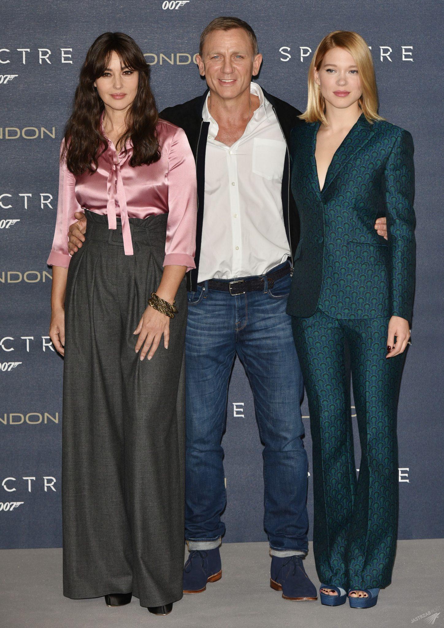 Monica Bellucci, Daniel Craig, Lea Seydoux. Światowa premiera