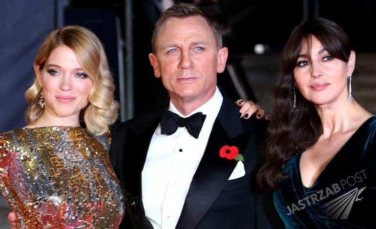 Lea Seydoux, Daniel Craig, Monica Bellucci, światowa premiera Spectre w Londynie (fot. ONS)