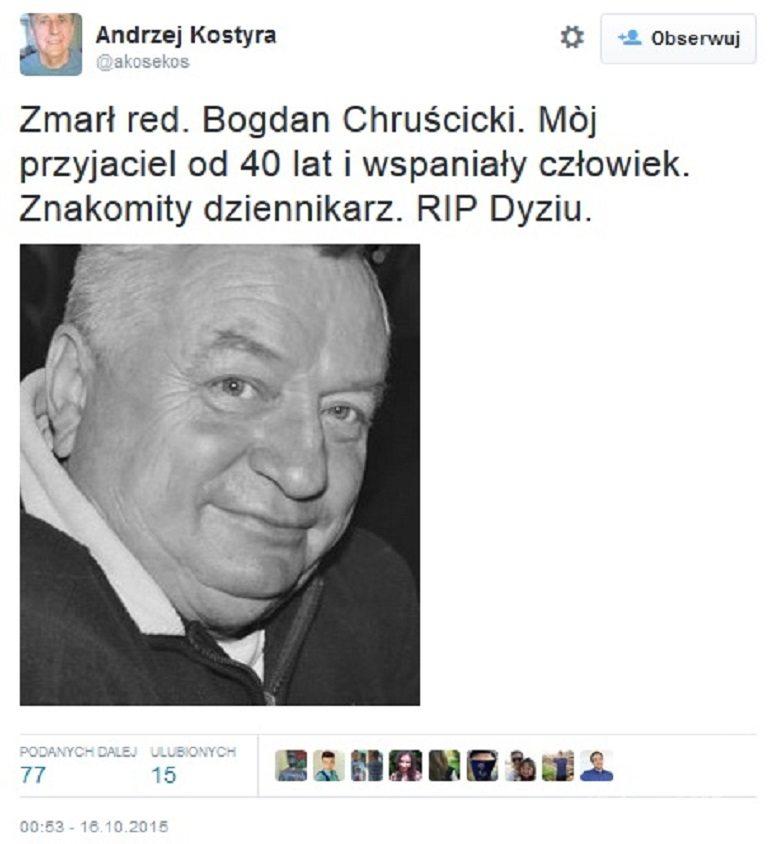 Bogdan Chruscicki nie zyje