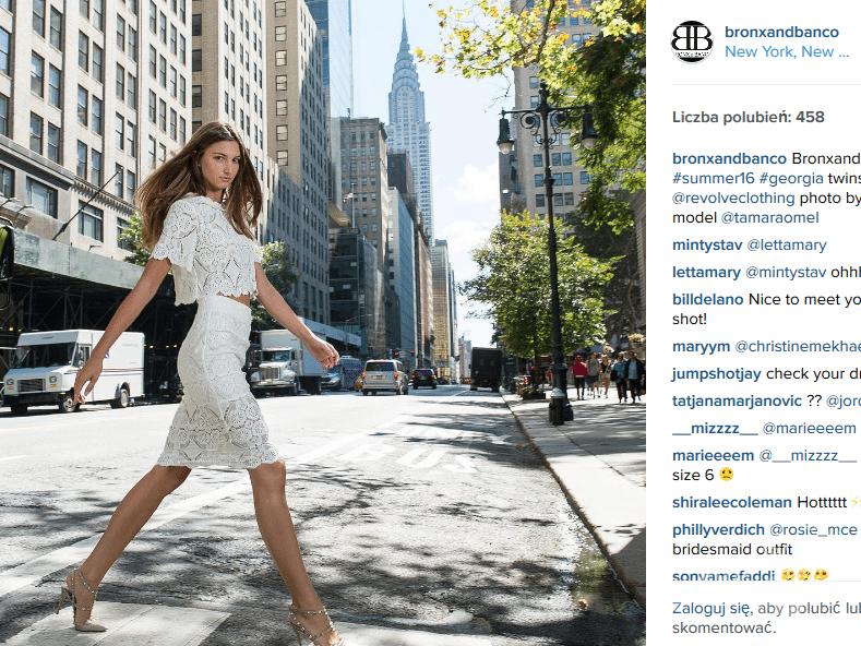 Kreacja Bronx&Banco (fot. Instagram)