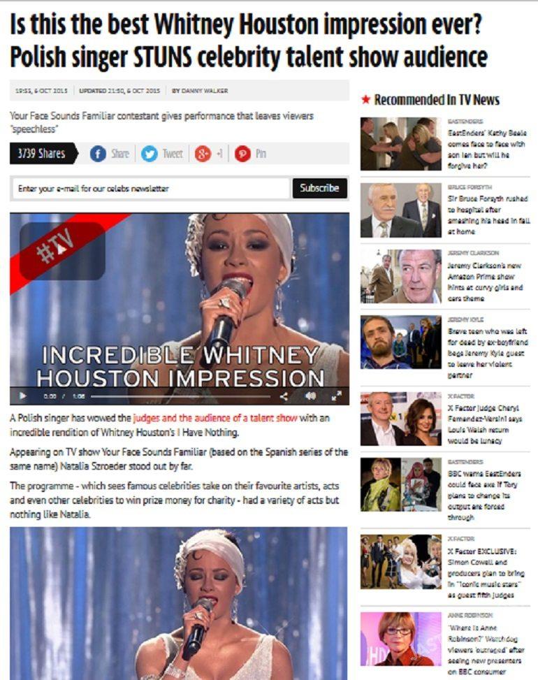 Brytyjski tabloid Mirror o Natalii Szroeder