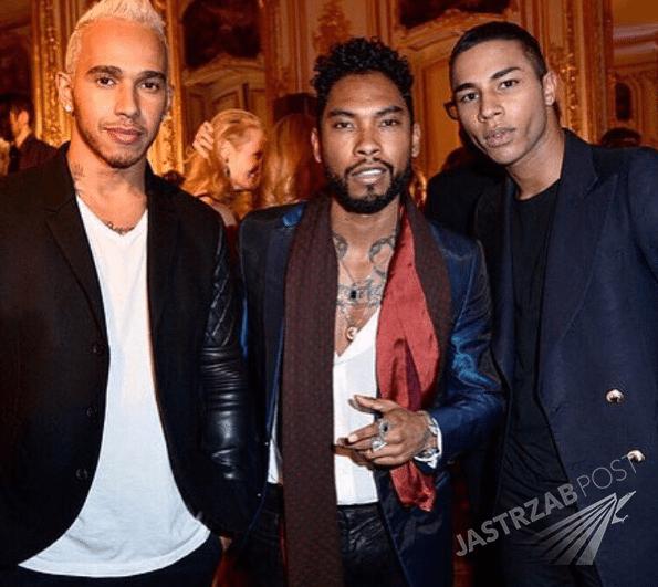 Lewis Hamilton podczas tygodnia mody w Paryżu (fot. Instagram)