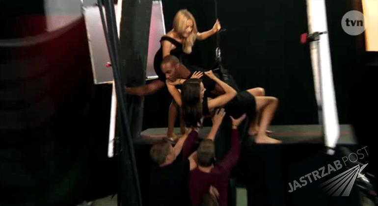 Marta Sędzicka na planie Top Model 5 podczas niebezpiecznej sesji