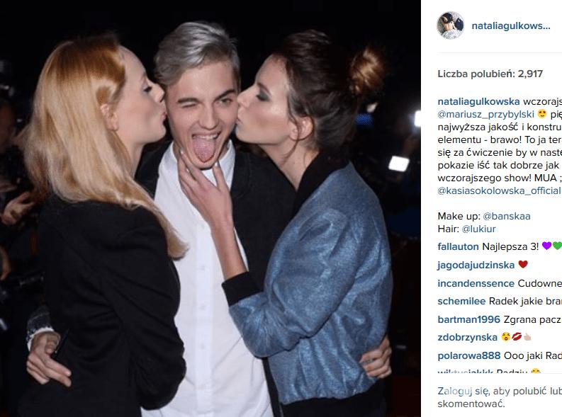 Radek Pestka z Jagodą i Natalią (fot. Instagram Natalia Gulkowska)