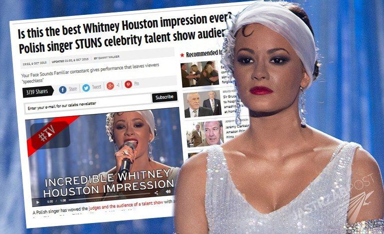 Natalia Szroeder jako Whitney Houston doceniona w Wielkiej Brytanii