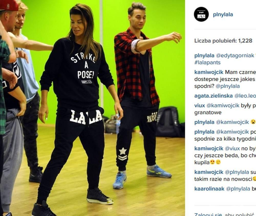 Edyta Górniak w dresie PLNY LALA (fot. Instagram)