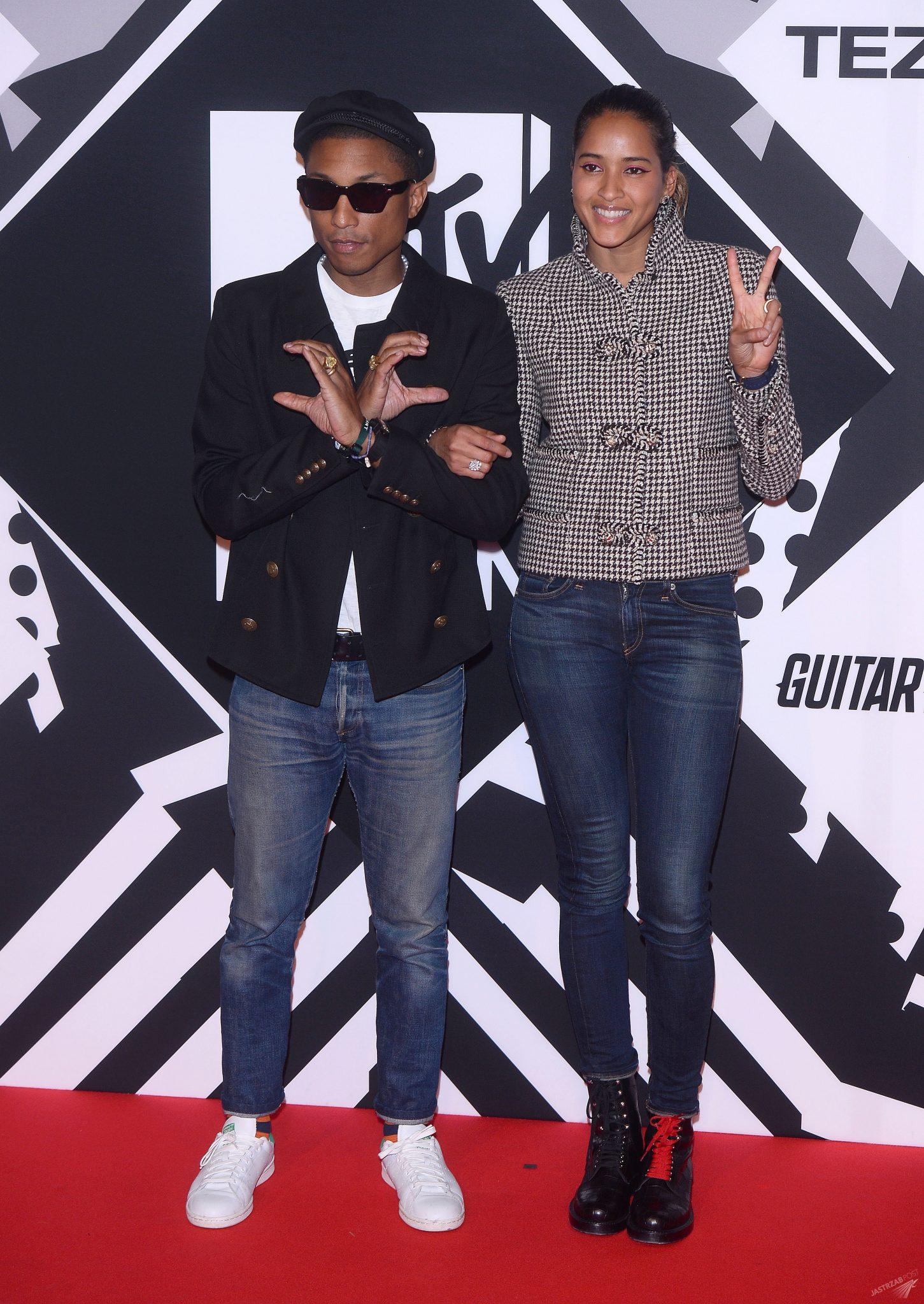 Pharell Williams i Helen Lasichanh - MTV EMA 2015
